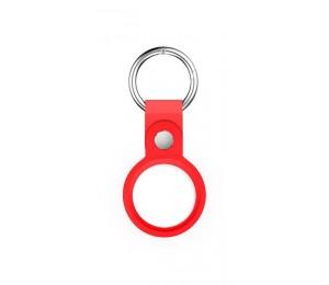 Llavero Bolso - Funda para airtag de silicona con colgante - Color Rojo