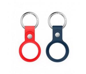 Llavero Bolso - Pack 2 fundas para airtag de silicona con colgante - Color Rojo y Azul