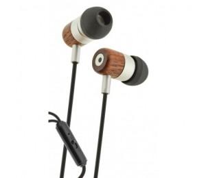 Ear Wood - Auriculares estéreo con micrófono