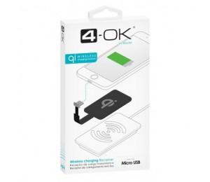 Receptor Qi - conector Micro USB