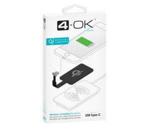 Receptor Qi - conector USB Tipo C
