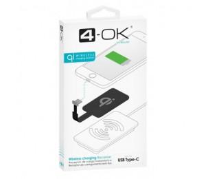 Receptor Qi - conector USB-C