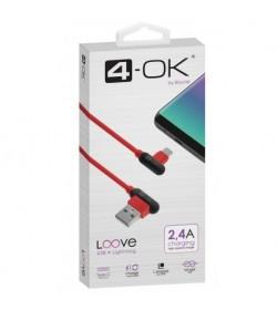 Cable Loove - USB a USB-C (1 m) - Hasta 2.4A