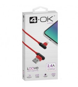 Cable Loove - USB a Lightning (1 m) - Hasta 2.4A