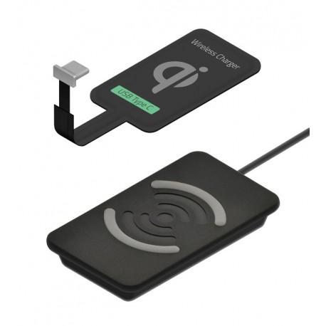 Pack Qi - Base + receptor USB-C